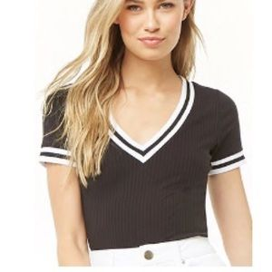 🎀 3 for 15 🎀 Ribbed Varsity striped top